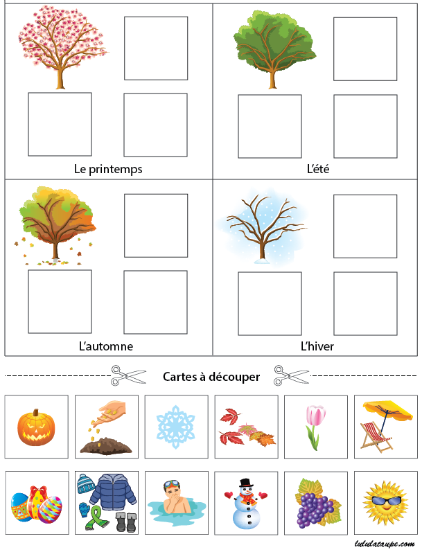 472 Les Saisons Exercice on Weather In 4 Seasons Worksheet