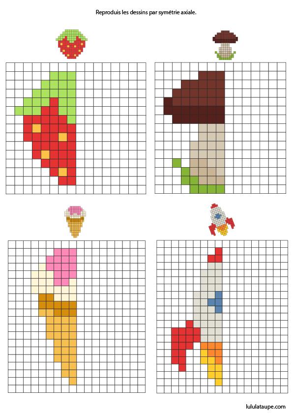 Symétrie Par Le Pixel Art Lulu La Taupe Jeux Gratuits