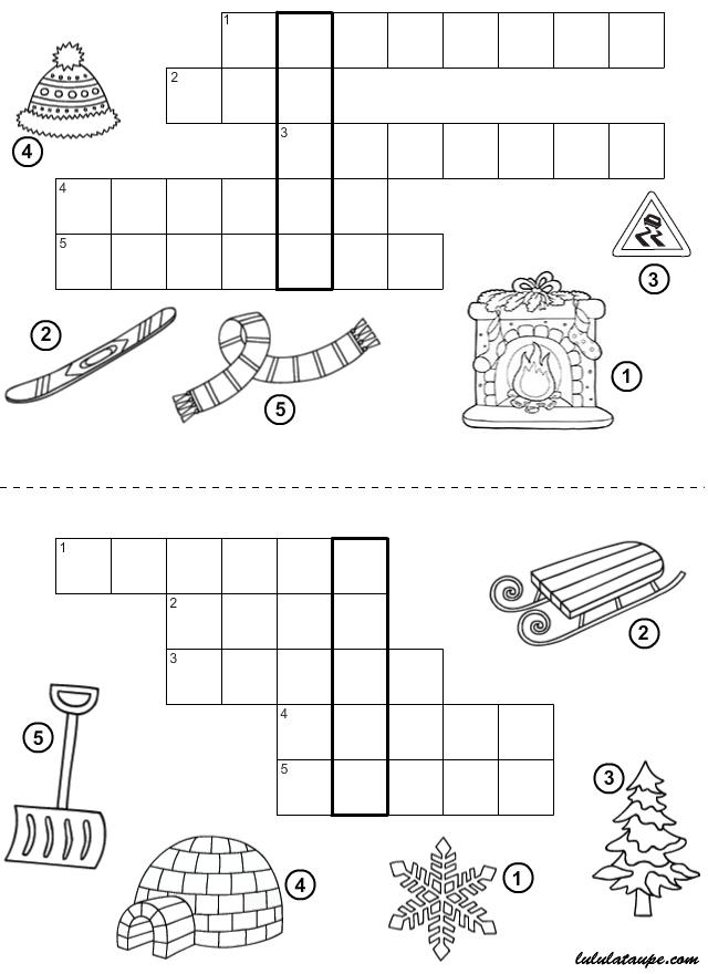 jeu du mot myst re imprimer l 39 hiver lulu la taupe jeux gratuits pour enfants. Black Bedroom Furniture Sets. Home Design Ideas