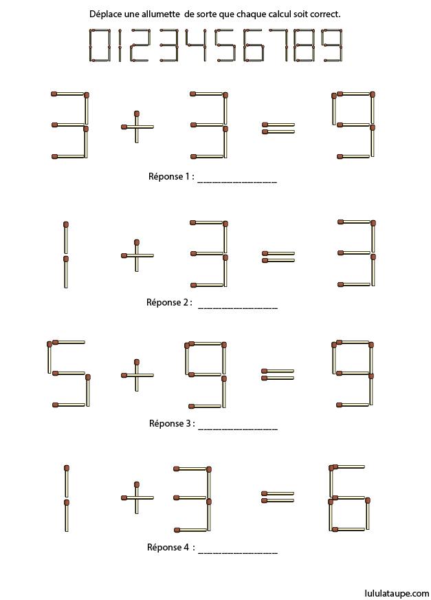 jeu de maths avec des allumettes lulu la taupe jeux gratuits pour enfants. Black Bedroom Furniture Sets. Home Design Ideas