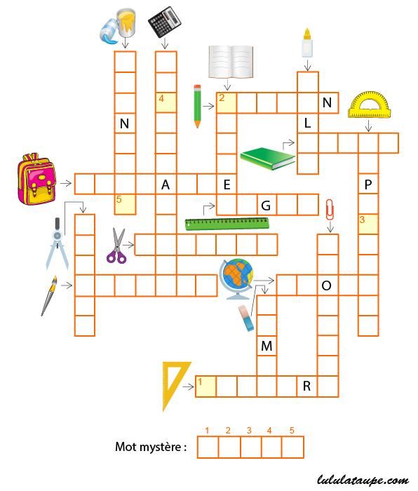 mots fl ch s th me les fournitures scolaires lulu la taupe jeux gratuits pour enfants. Black Bedroom Furniture Sets. Home Design Ideas