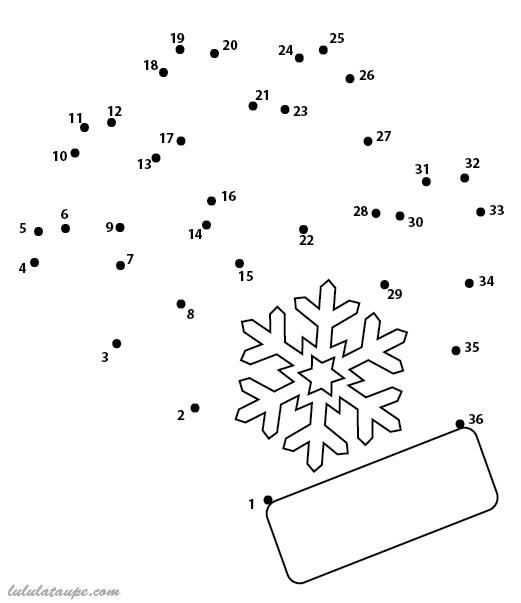 Relier les points de 1 36 lulu la taupe jeux gratuits - Points a relier noel ...