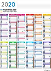 Calendrier 2020 Avec Jours Fériés Vacances Scolaires.Calendrier 2020 A Imprimer Lulu La Taupe Jeux Gratuits