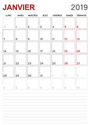 Calendrier 2019 Mois Par Mois A Imprimer.Calendrier 2019 A Imprimer Lulu La Taupe Jeux Gratuits