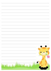 Papier A Lettres A Imprimer Lulu La Taupe Jeux Gratuits Pour Enfants